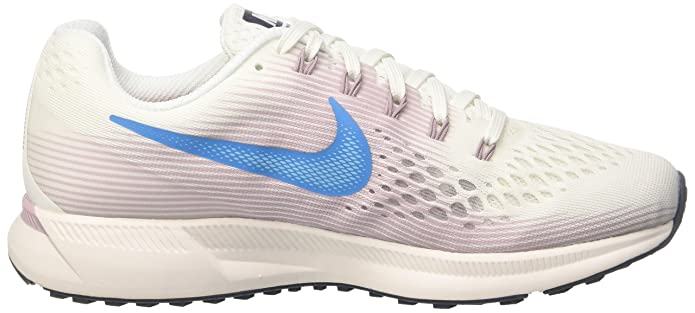 new arrivals 72216 43585 Nike WMNS Air Zoom Pegasus 34 Chaussures de Running Femme, Blanc Cassé ( Summit Whiteequator Blue E Lem 105) 41 EU  Amazon.fr  Chaussures et Sacs