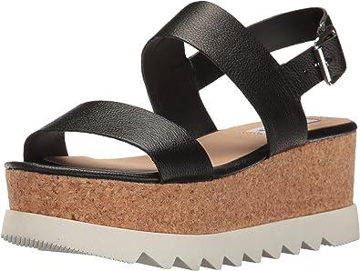   Steve Madden Women's Krista Wedge Sandal Black