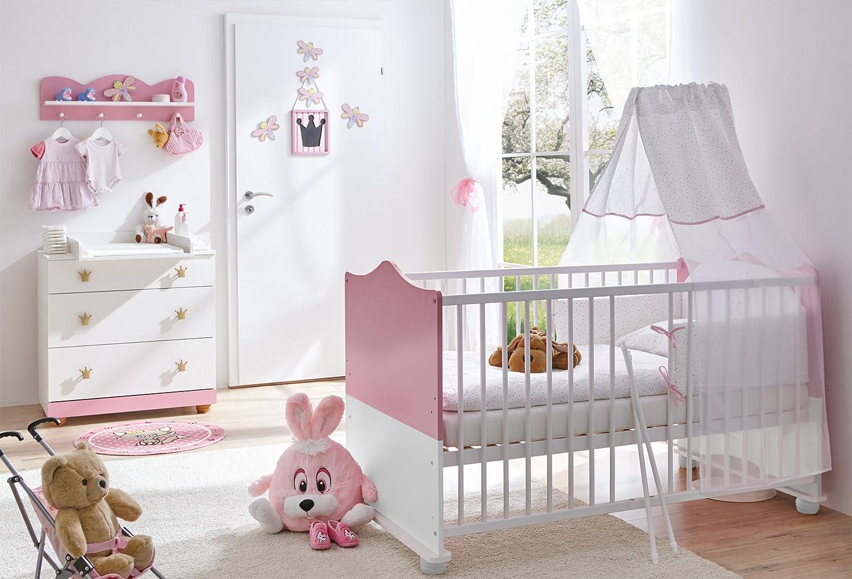 TICAA Babyzimmer Prinzessin 3-teilig Rosa
