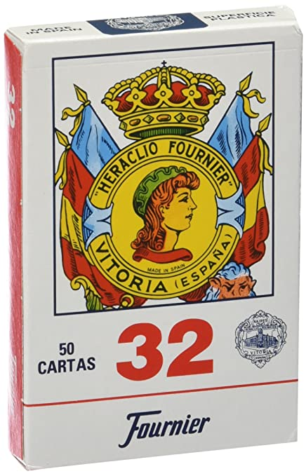 Amazon.com: Fournier – No. 32, 50 Cards Spanish, Blue/Red ...