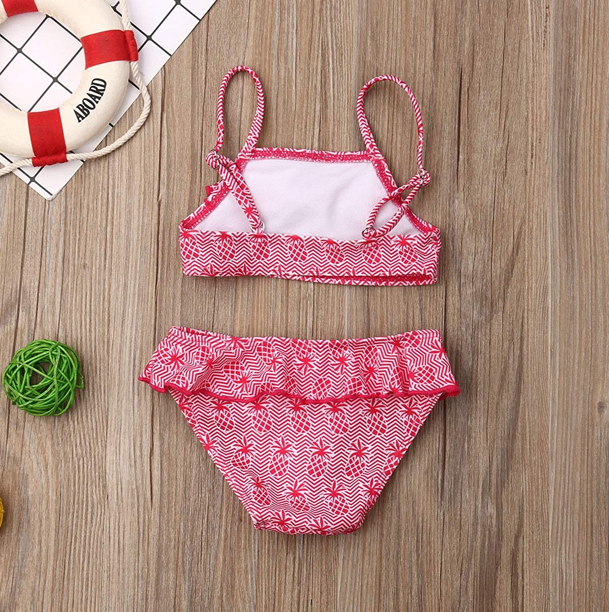 remeo suit Infant Baby Big Little Sister Pineapple Print Ruffle Matching Swimsuit Outfit Bathing Suits