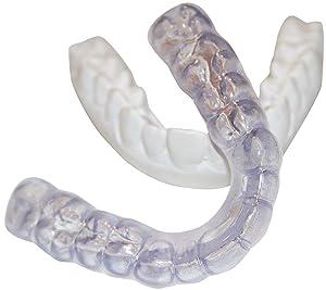Dental Lab Custom Teeth Night Guard - Medium Firmness(not a hard guard) UPPER TEETH - Protect Teeth From Grinding, Clenching, Bruxism - Medium Density - Soft but Strong Teeth Mouth Guard