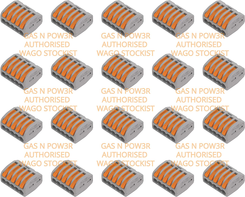 WAGO Interconexiones Eléctricas - Serie 221 - Serie 222 - M Box L32 - Ahorre tiempo y costes con nuestros bloques de terminales de instalación y conectores por Gas N Pow3r