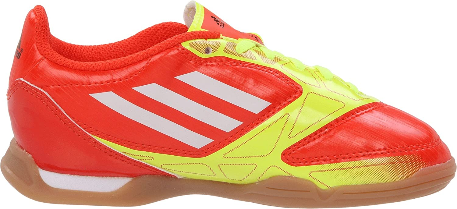 Amazon.com | adidas F5 Soccer Cleat (Little Kid/Big Kid), High Energy/Electricity/White, 1.5 M US Little Kid | Soccer