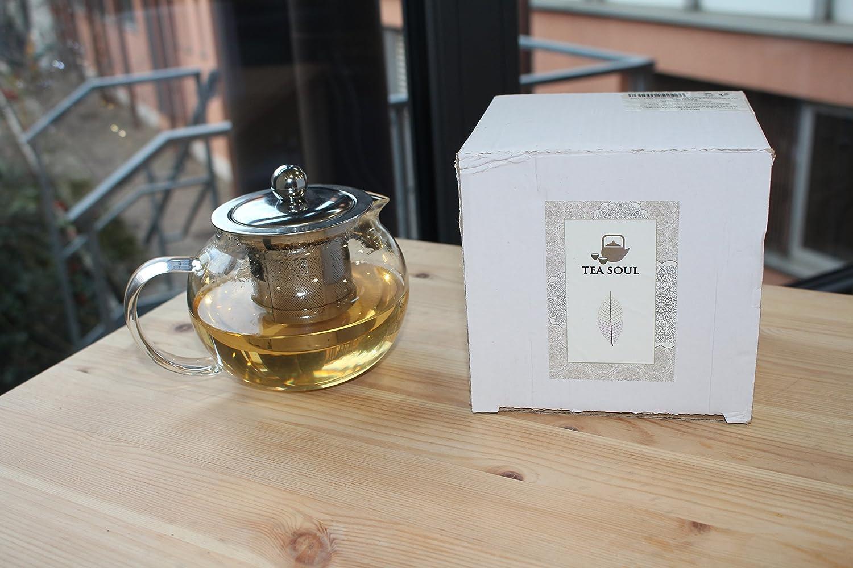B6021513 Tea Soul Teiera in Vetro con Filtro in Acciaio 400 ml None