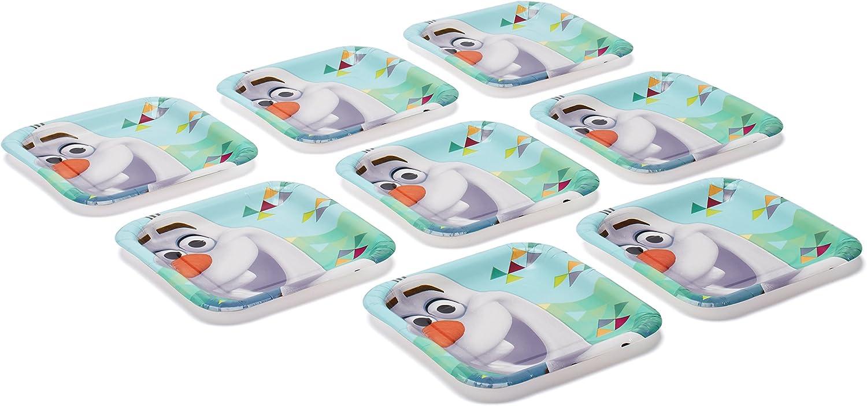 Multicolor DesignWare Olaf Sqaure Dessert Plate 7-Inch