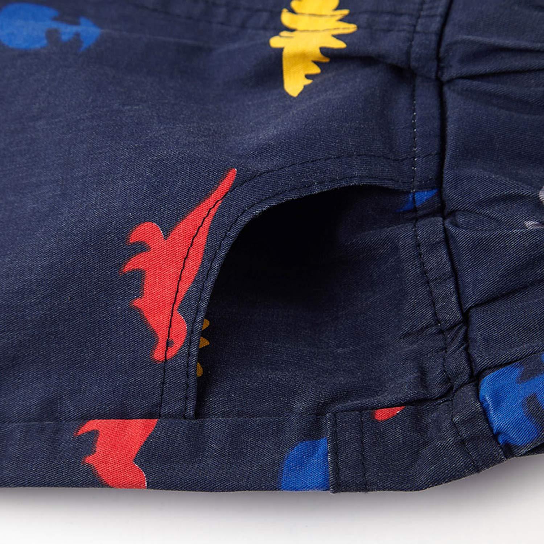 De feuilles Pantalon Short B/éb/é Gar/çon Enfant Bermudas Motif Imprim/é avec Poches Lat/érales et Bande /élastique