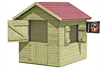 Super Gartenpirat Spielhaus Marie 1,5 x 1,2 m x 1,60 Gartenhaus aus Holz YW91