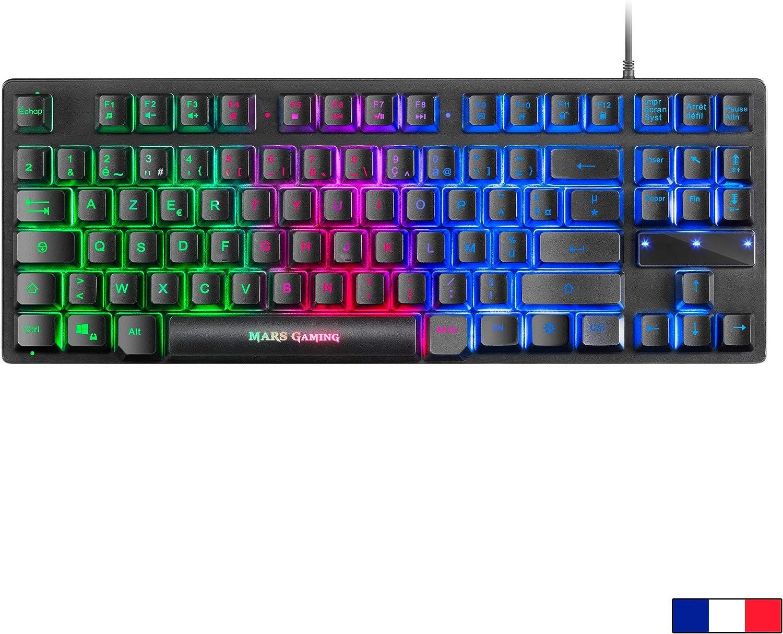 Mars Gaming MCPTKLFR, Combo RGB Teclado y Ratón, Diseño TKL, Layout Francés