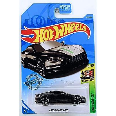 Hot Wheels 2020 Int'l Card Aston Martin DBS 224/250 HW Exotics 10/10 Black Die Cast Model Car: Toys & Games