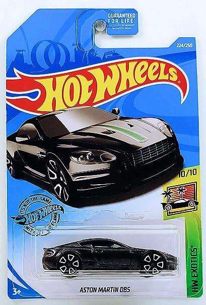 Amazon Com Hot Wheels 2019 Int L Card Aston Martin Dbs 224 250 Hw Exotics 10 10 Black Die Cast Model Car Toys Games