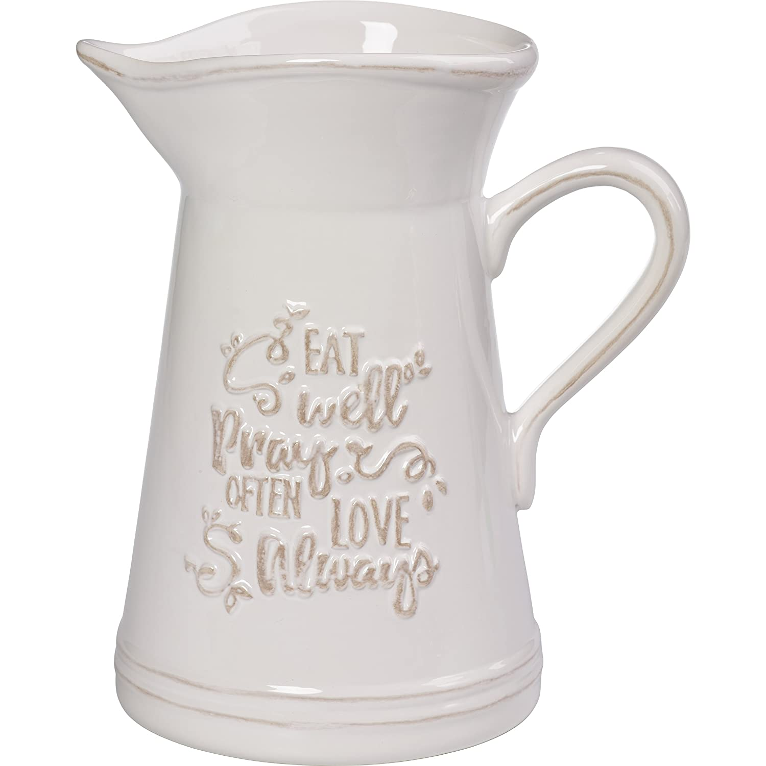 Precious Moments 173410 Ceramic Kitchen Utensil Holder Or Pitcher One Size Multicolor