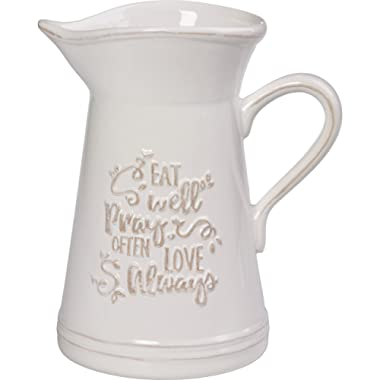 Precious Moments 173410 Ceramic Kitchen Utensil Holder Or Pitcher, One Size, Multicolor