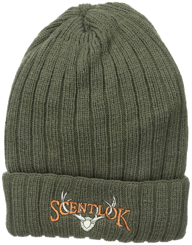 f541dfc423e Amazon.com   Scent-Lok Men s Carbon Lined Roll Cuff Knit Beanie ...