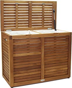 Nila Medium Sized Double Teak Laundry & Storage Hamper