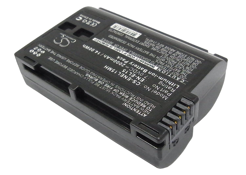 Cameron Sino Rechargeble Battery for Nikon 1 V1 (2000 mAh / 14.00 WH)   B01DNNJYZC