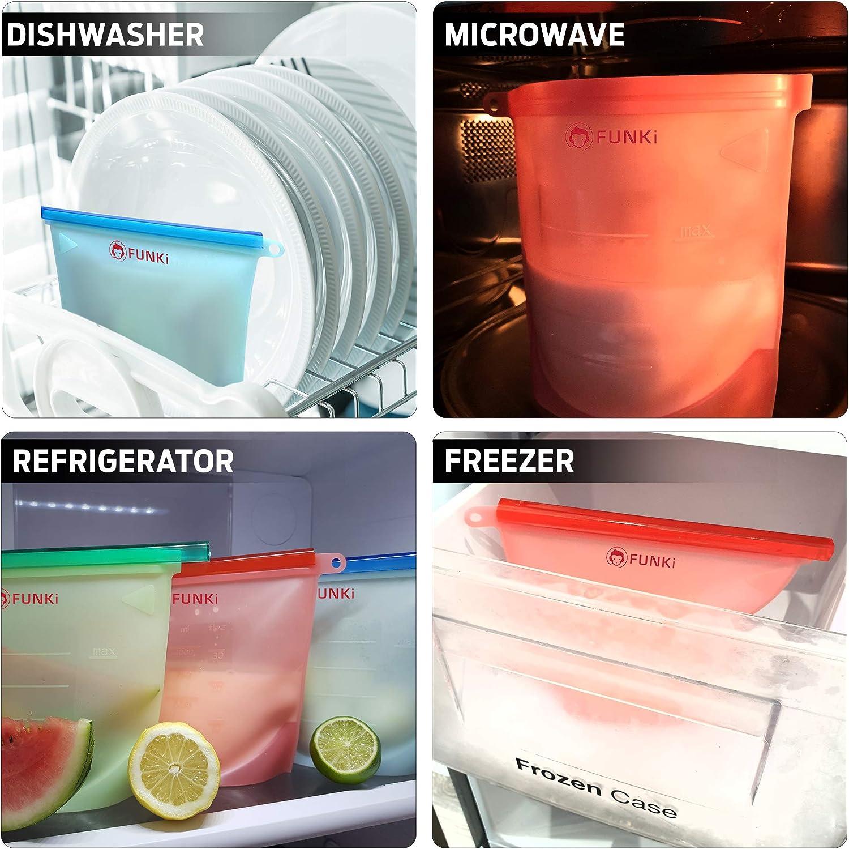 bolsas de almacenamiento reutilizables de silicona,a prueba de ...