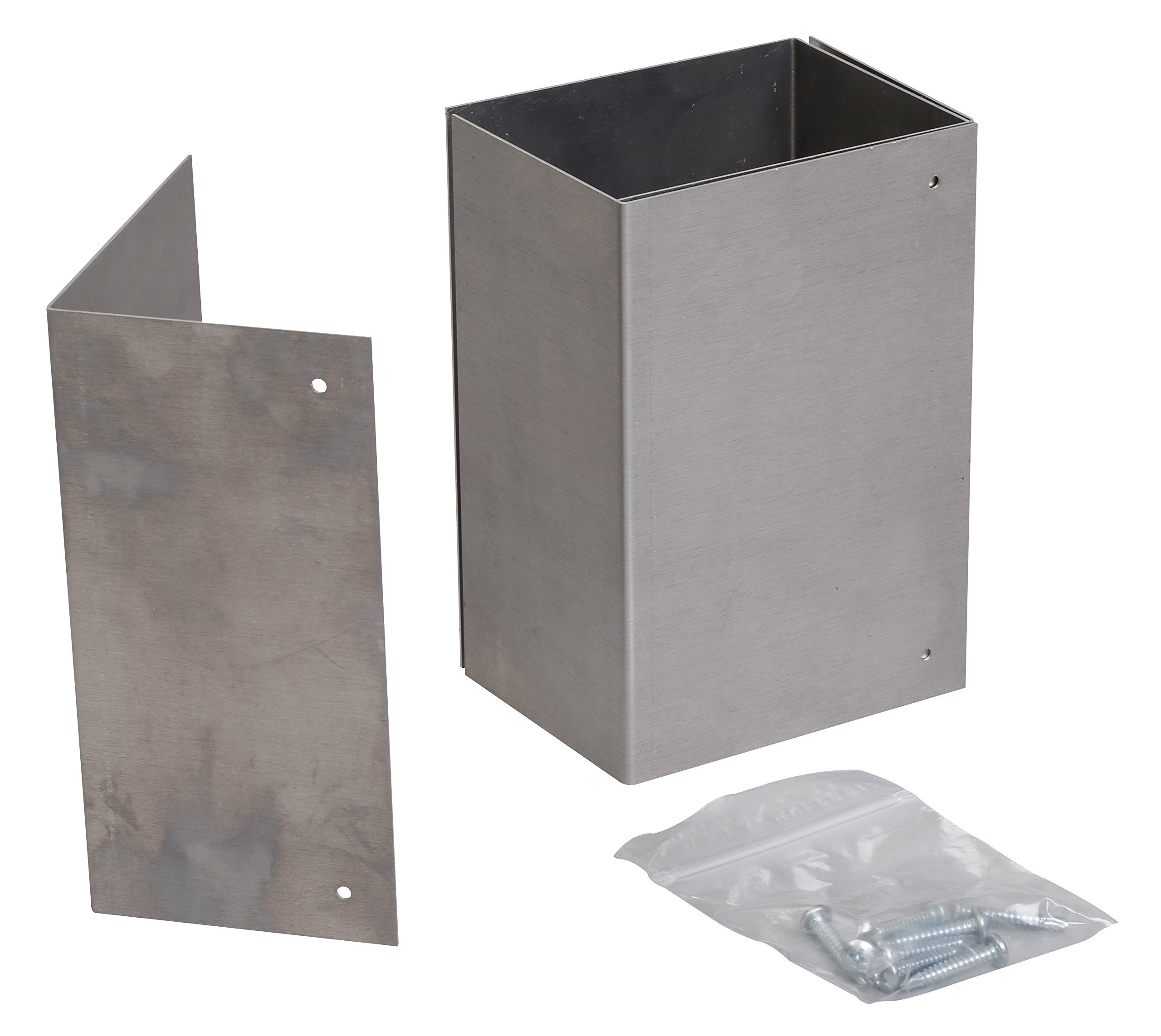 4x6 Mailbox Post Aluminum Trimmer Guard: USA made, Rust-free solution to protect posts