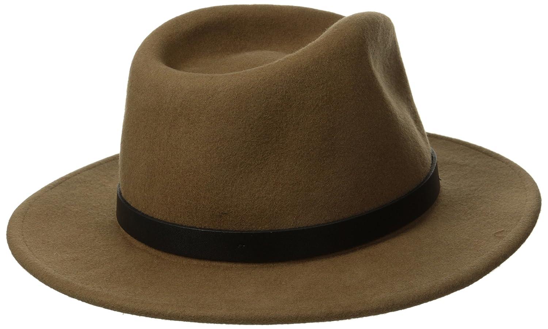 df526a461ae Brixton Men s Messer Fedora Hat  Amazon.ca  Clothing   Accessories