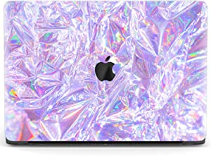 Mertak Hard Case Compatible with MacBook Pro 16 Air 13 inch Mac 15 Retina 12 11 2020 2019 2018 2017 Touch Bar Print Pink Protective Clear Film Abstract Laptop Iridescent Cellophane Luxury Texture
