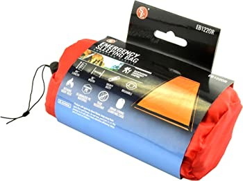 SE EB122OR Emergency Sleeping Bag with Drawstring Carrying Bag