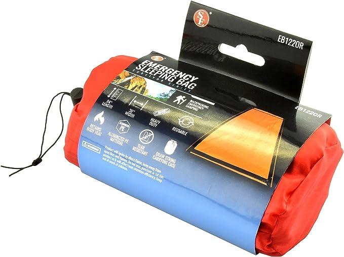 Reusable Emergency Sleeping Bag Waterproof Survival Camping Travel Bag/&Whistl3CX