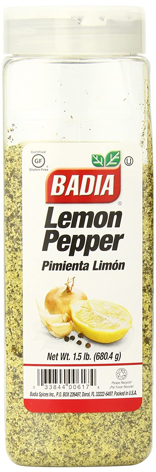 Badia Lemon Pepper, 1.5 Pound (Pack of 6): Amazon.com: Grocery & Gourmet Food