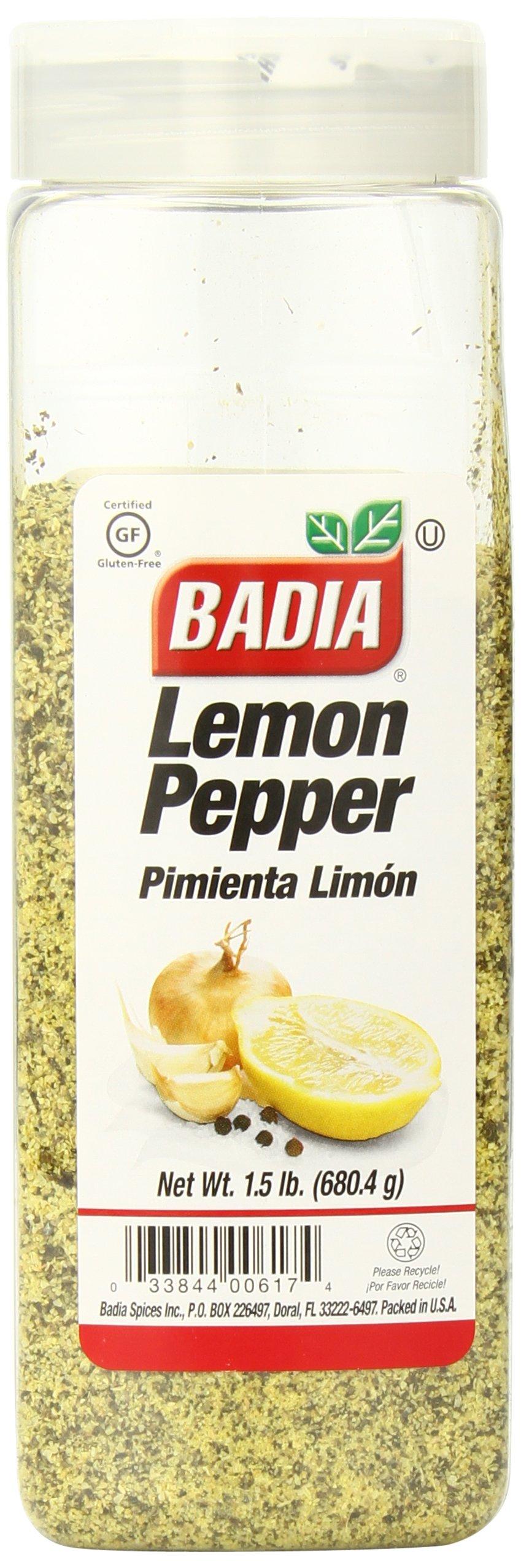 Badia Lemon Pepper, 1.5 Pound (Pack of 6)