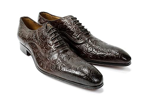 IVAN TROY Brown Handmade Italian Leather Dress Shoes//Monk Strap Office Shoes