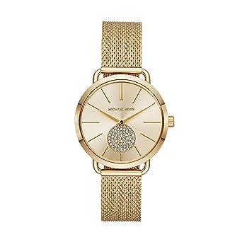 c8050e92b204 Michael Kors Women's Portia Analog-Quartz Watch with Stainless-Steel Strap,  Gold,