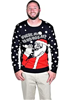Amazoncom Ho Adult Red Ugly Christmas Sweater Clothing