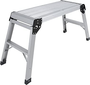 Aluminium Hop up Platform Step The Low Level Professional Work Platform Stool is Great for Any odd Job in The House,Used for Kitchen Bathroom and Camping