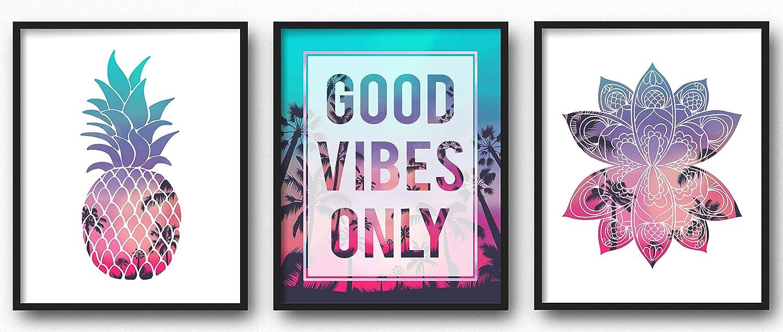 Amazon Com Brooke Vine Beach Teen Girl Room Wall Decor Art Prints Unframed 8x10 Vsco Inspirational Wall Art Motivational Quotes Posters For Kids Tween Women Office Bedroom Dorm Cubicle Desk