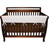"Trend Lab Waterproof CribWrap Rail Cover - For Wide Long Crib Rails Made to Fit Rails up to 18"" Around"