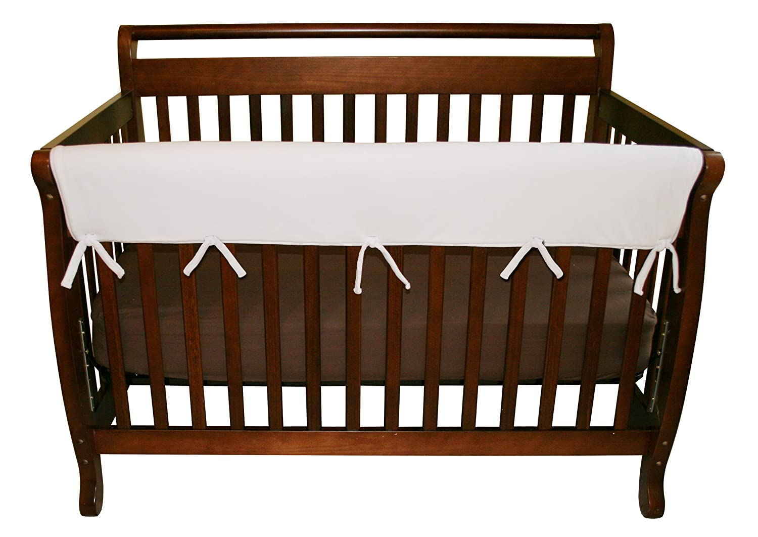 Amazon Trend Lab Fleece CribWrap Rail Cover For Long White Wide Crib Rails Measuring Up To 18 Around Childrens Bed Safety Baby