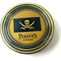 Artshai Pirate Brass Based Antique Look Magnetic Compass (2.5-inch, Black)