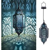 Moroccan Hanging Solar Light (Black)