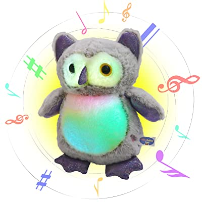 Glow Guards Light up Musical Stuffed Owl Soft Plush Toy with LED Night Lights Lullabies Singing Glow Birthday for Toddler Kids, 12'': Toys & Games