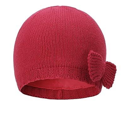 b472e30ab4c3c vivobiniya Toddler Baby Girl Lovely Bowknot Knit Hats Baby Hats 6m-4years  Old (1
