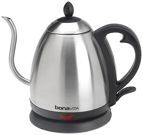 Bonavita 1.0L Electric Kettle Featuring Gooseneck Spout, BV3825B