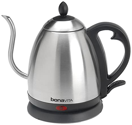 amazon com bonavita 1 0l electric kettle featuring gooseneck spout