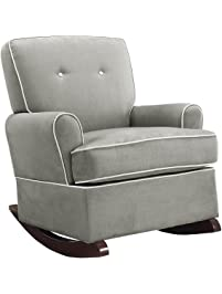 Baby Relax Tinsley Nursery Rocker Chair, Gray