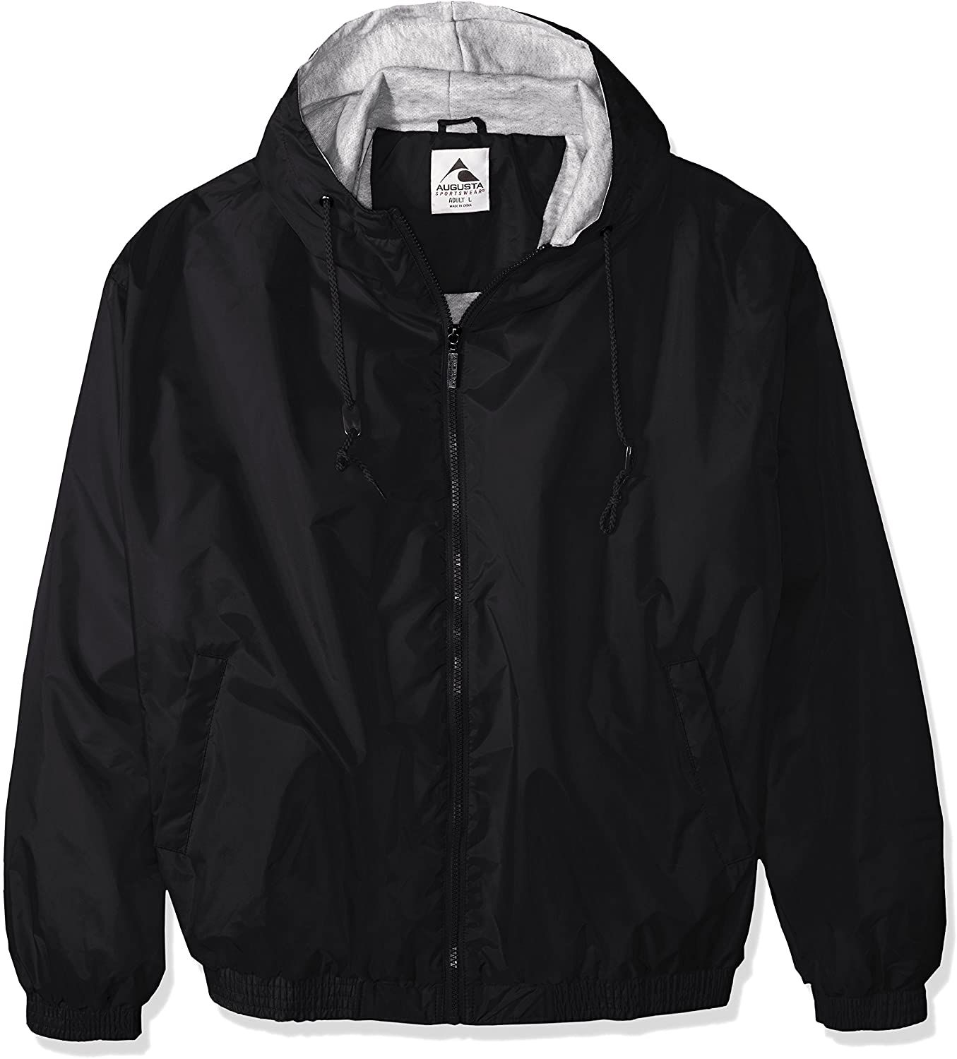 Augusta Sportswear Mens Hooded Taffeta Jacket//Fleece Lined