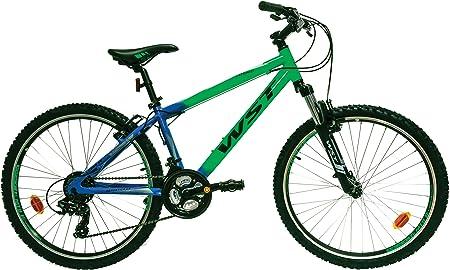 WST Cosmo Bicicleta de montaña, Hombre, Verde, 26