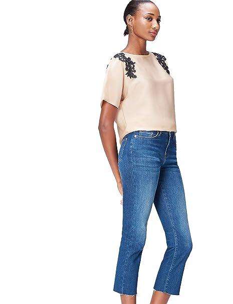 3a86fe0db346 find. Blusa con Blonda para Mujer: Amazon.es: Ropa y accesorios