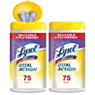 Lysol Dual Action Disinfecting Wipes Value Pack, Citrus, 150ct