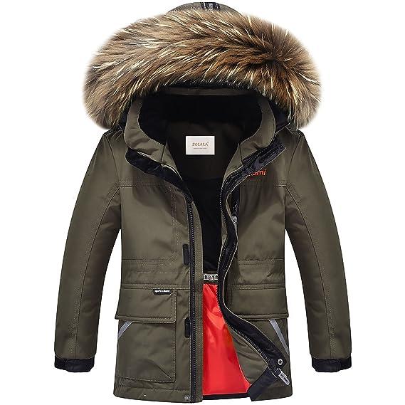 67705aae6 ZOEREA Kids boy s Hooded Puffer Down Jacket Winter Kids Warm ...