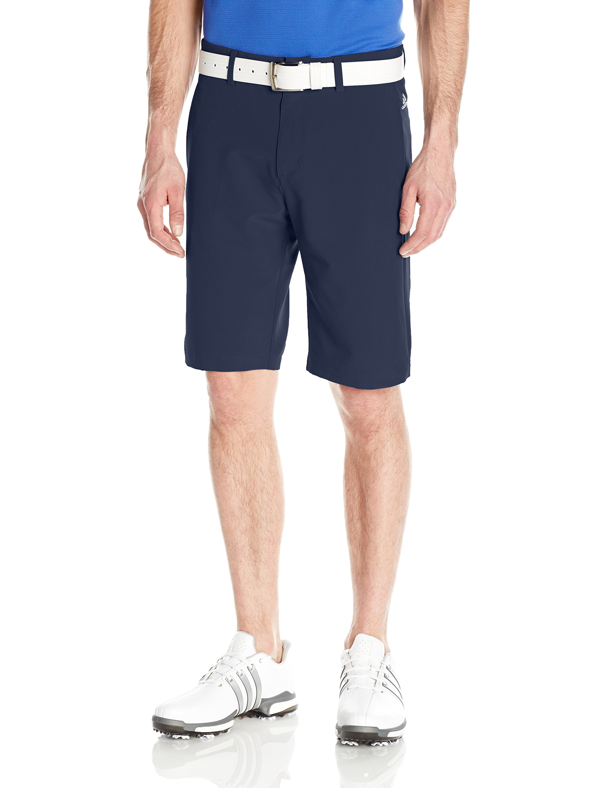 adidas Golf Ultimate+ 3-Stripes Short, Navy, 35'' by adidas