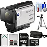 Sony Action Cam FDR-X3000 Wi-Fi GPS 4K HD Video Camera Camcorder with 64GB Card + Battery + Case + Tripod + Kit