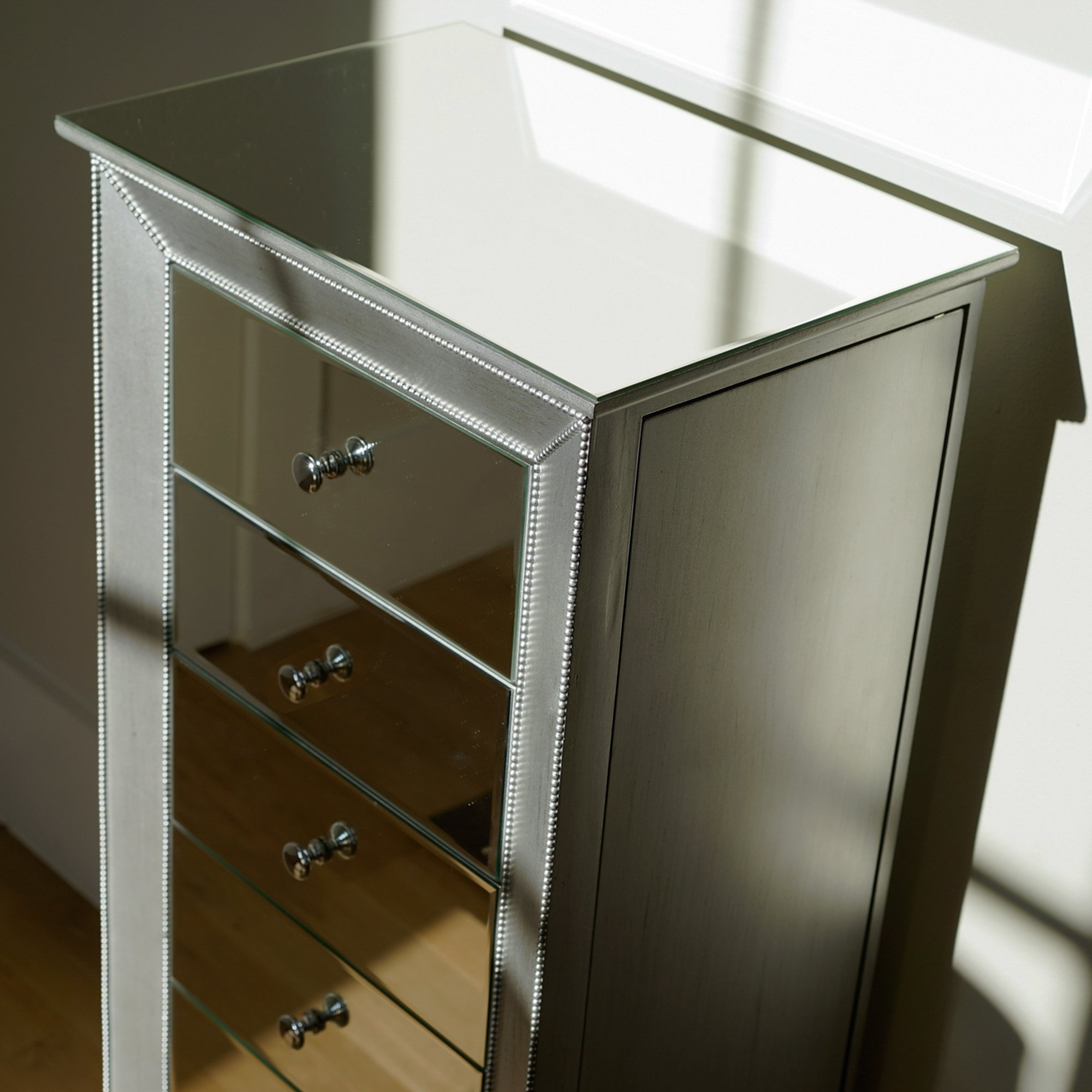 Hives and Honey Mia Jewelry Armoire, Metallic Silver by Hives and Honey (Image #4)